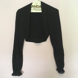 French Style Puffy Sleeves Cardigan Sz S
